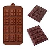 Molde de silicona para 12 celdas, molde de chocolate, fondant, pastelería, molde de barra de caramelo, decoración de modo de pastel, accesorios de cocina para hornear