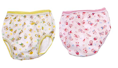 PEUBUD ® Reusable Waterproof Washable Inside Cotton Outside PlasticPanty/Training Pants/Diaper Newborn Baby (Pack of 2) (9-12 Months)