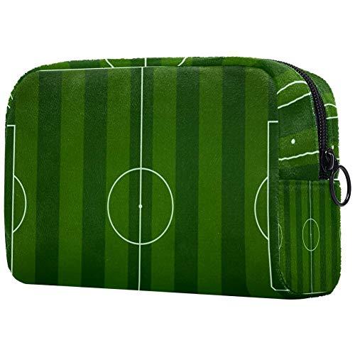 Voetbal veld make-up tas toilettas voor vrouwen huidverzorging cosmetische handige zak Rits handtas
