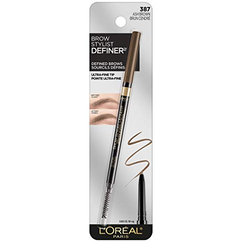L'Oreal Paris Makeup Brow Stylist Definer Waterproof Eyebrow Pencil, Ultra-Fine Mechanical Pencil, Draws Tiny Brow Hairs & Fills in Sparse Areas & Gaps