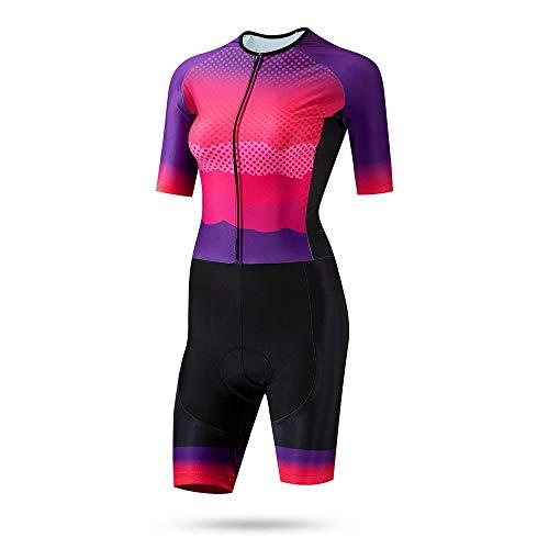 Maillot de Ciclismo Mujer Triatlón desgaste verano Jersey de las señoras de...