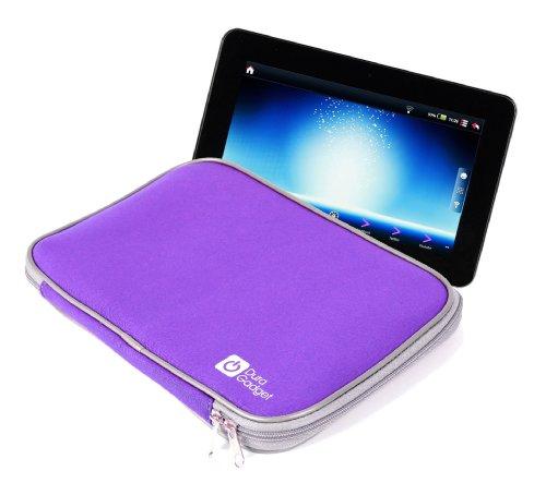 "DURAGADGET Purple Shock & Water Resistant Neoprene Sleeve With Twin Zip For Polaroid MIDC497, Samsung Galaxy tab 3. 10"", Samsung Galaxy Note 10.1"", Polaroid 9.7"" Tablet Diamond, Polaroid 9"" Tablet Diamond, Haier Pad Maxi 10.1"""