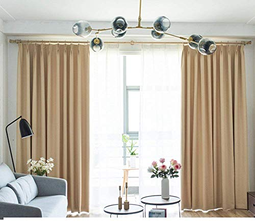 HXR verduisteringsgordijnen Modern en minimalistisch Woonkamer Slaapkamer Baai venster Zonwering Balkon Dikke zonnescherm Kant-en-klare gordijn Set van 1 panel-G 300x270 cm (118x106 inch)