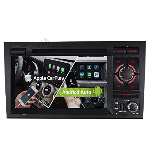 Unilaterale Dual-Tuner FM Carplay+Android Auto Android 10.0 2G+32GB ROHM-DSP DVD GPS Autoradio Navigation für Audi A4 S4 RS4 Seat Exeo BT DAB+ WiFi 4G WiFi OBD2