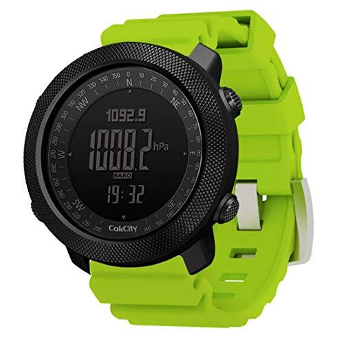 CakCity, orologio militare da uomo per sport all'aria aperta digitale orologio da uomo con bussola temperatura,passo tracker, quadrante grande, modello: Apache