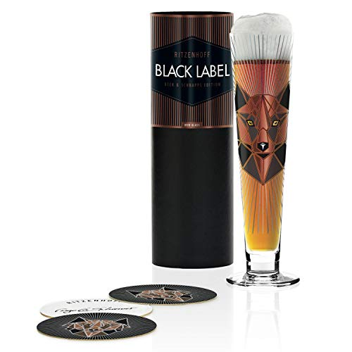 RITZENHOFF 1010249 Black Label - Bicchiere da birra, 385 ml