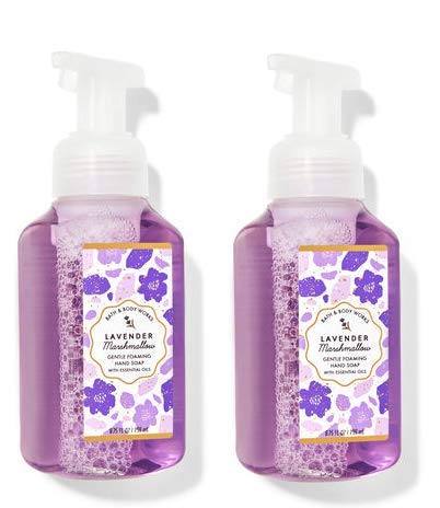 (2 pack) Bath and Body Works Lavender Marshmallow Gentle Foaming Hand Soap 8.75 Ounce/ 259 ml Each
