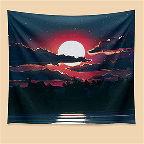 YYRAIN Tapiz De Puesta De Sol Nórdico, Toalla De Playa Multifuncional, Decoración del Hogar, Ropa De Cama 130cm x 150cm{Width×Height} A