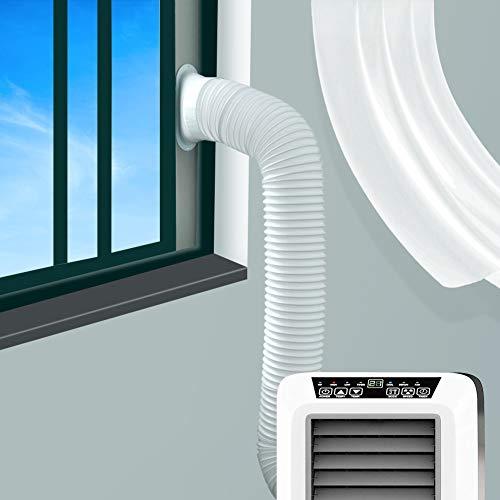 JOYOOO 2m PVC Tubo aire acondicionado Tubo de salida de aire para sistemas de aire acondicionado /counterclockwise installation direction (Ø15CM)