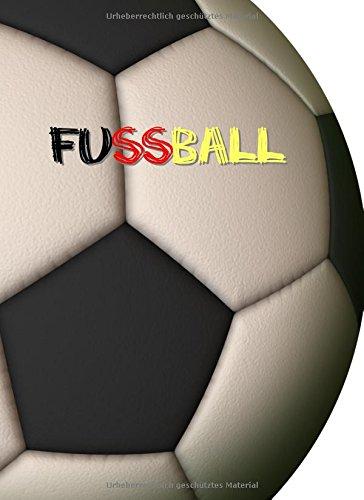 Notizbuch - Fussball / Fußball: A4 - liniert