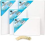 H&S Acrylfarbe Leinwand Set für Wasser Malerei (4er Pack) Set von 4
