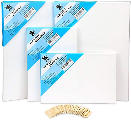 H&S Set of 4 Artist Blank Canvas Frame Stretcher Acrylic Oil Water Painting Board 20x30cm 30x40cm