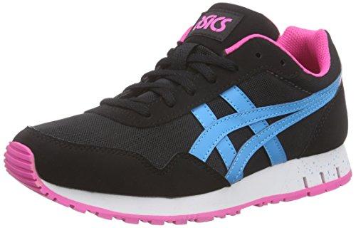 ASICS Unisex-Erwachsene Curreo HN537-9039 Sneaker, Schwarz (Black/Atomic Blue 9039), 39 EU