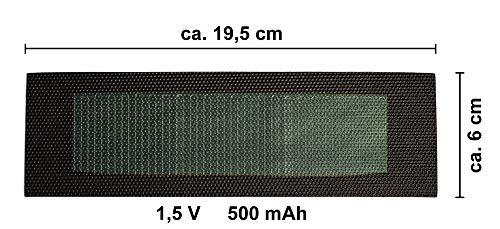 edi-tronic Solarzelle flexibel 1,5V 0,5A 0,75W Solar Zelle Solarmodul Mini Kleine Hobby