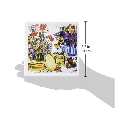 #083 Roses Pressed Flower Cards Set of 6 Printed Notecards