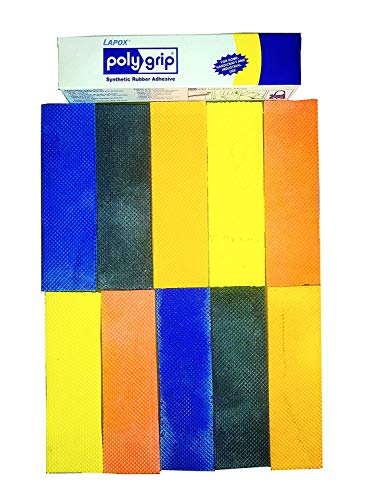 Cricket Bat Toe Guard with Pasting Glue - Assorted Colours, Full Size (Pack of 10)