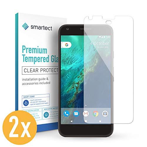 smartect Cristal Templado para Móvil Google Pixel XL [2 Unidades] - Protector de Pantalla 9H - Diseño Ultrafino - Instalación sin Burbujas - Anti-Huella