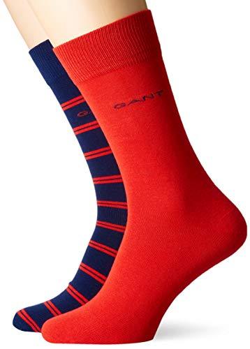GANT Herren D1. 2-Pack Double Breton Socken, Persian Blue, One Size