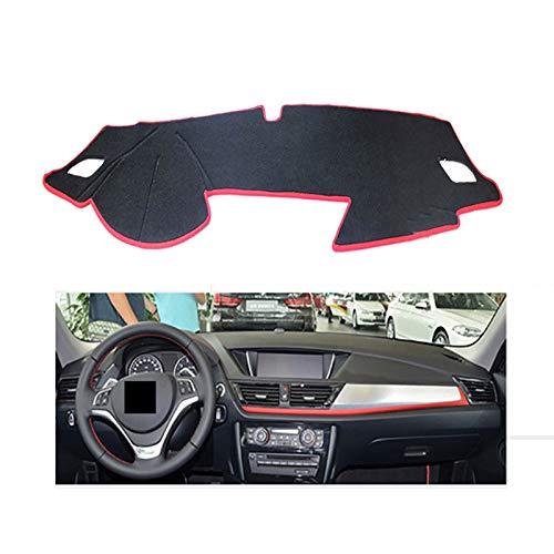 XHULIWQ Auto Dashboard Instrument Platform Schreibtischabdeckung Anti-Mat Teppiche Autozubehör, Für BMW 1er 2011-2014
