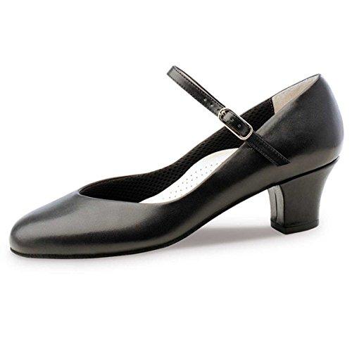 Werner Kern - Mujeres Zapatos de Baile Gina - Cuero Negro - 4,5 cm