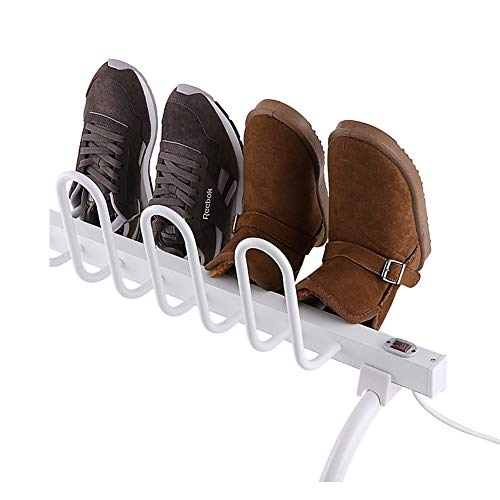 Raksonic シューズドライヤー くつ乾燥機 靴乾燥機 電気靴乾燥機 多機能乾燥機 多機能ドライヤー 全方位発熱 定温加熱 除菌 脱臭 除湿 足ドライヤー シューズドライヤー 靴/手袋/帽子/ソックス/スキーブーツの乾燥機 各種の靴サイズに 全季節対応