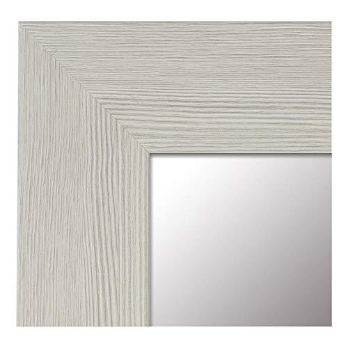 -Espejo Fabricado en España- tamaño 65x165 cm. Espejo Decorativo de Pared Modelo 187 Perla, Ideal para salón, Dormitorio, vestidor, baño o Pasillo