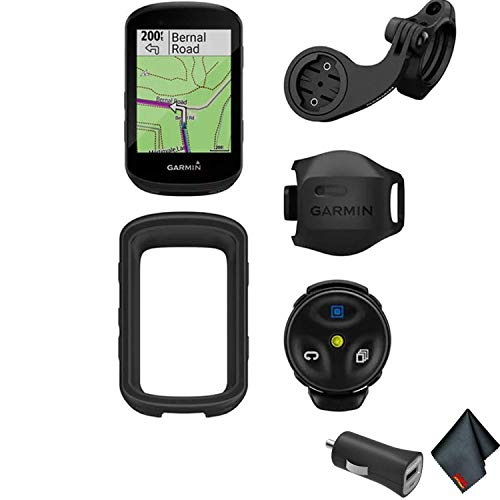 Garmin Edge 530 GPS Cycling/Bike Computer Mountain Bike Bundle with Universal USB 2- Port Car Charger and More