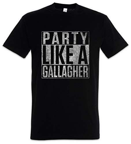 Urban Backwoods Party Like A Gallagher Herren T-Shirt Schwarz Größe M
