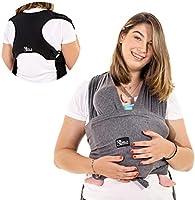 Koala Babycare® Fascia porta bambino facile da indossare (easy on), regolabile unisex - Marsupio neonati multiuso adatto...