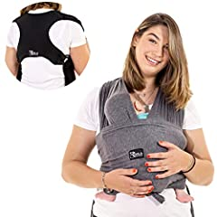 Koala Babycare® Baby Towel Easy Tightening (Easy-On) - Unisex - Baby Carrier Newborn - Multi-Use - Tot 10kg - Baby Carrying Cloth Antracite Grey - Koala Cuddle Band - Registered Design KBC®*