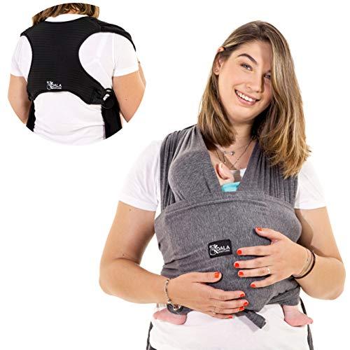 Imagen para Koala Babycare® - Fular Portabebés fácil de usar (fácil de colocar), unisex ajustable, la mochila portabebes multiusos apropiada hasta 10 kg. Fular portabebés elastico - Diseño Registrado KBC®
