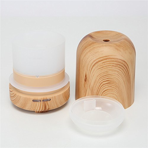 Save %42 Now! TRADE 100ML Ultrasonic Timer Settings and Waterless Auto Shut-off Protection Air Purification Spray Circle Column Shallow Wood Grain Humidifier,Suitable for Your Home and Office