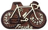 08#052522 Schokolade Fahrrad INCL BESCHRIFTUNG VOLLMILCH ODER ZARTBITTER als Schokoladenplatte, Tortenverzierung, Schokolade, Torte