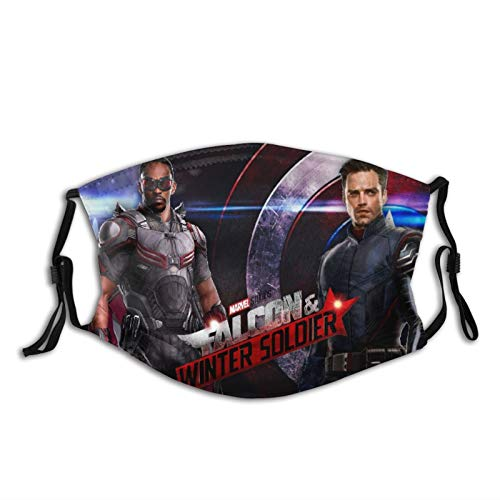 Star Heaven The Falcon and The Winter Soldier Face Cover Anti Haze with 2 Filters Adjustable Reusable Washable Bandana