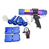 Pistola de calafateo a presión neumática, pistola de pegamento de vidrio con válvula de ajuste 310 ml