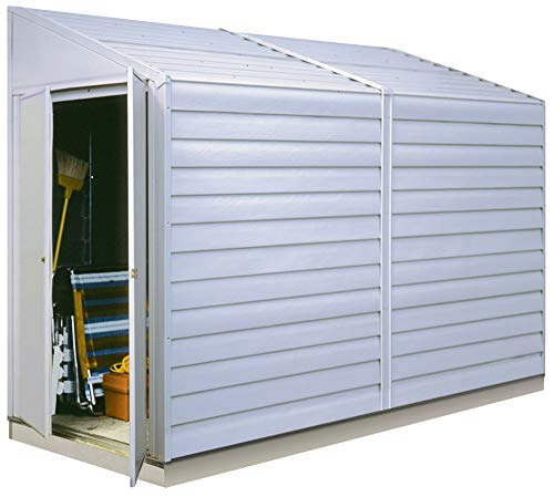 Arrow Shed Yardsaver Compact Galvanized Steel Storage Shed with Pent Roof, 4  x 10