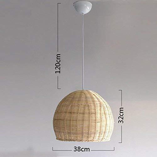 Handgeweven rieten mand rotan schaduw ronde hanger lamp kabel hanglamp voor huis eettafel ruimte