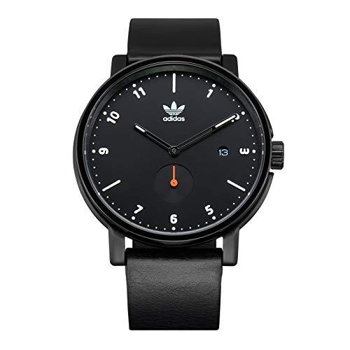 Adidas Herren Analog Quarz Uhr mit Leder Armband Z12-3037-00
