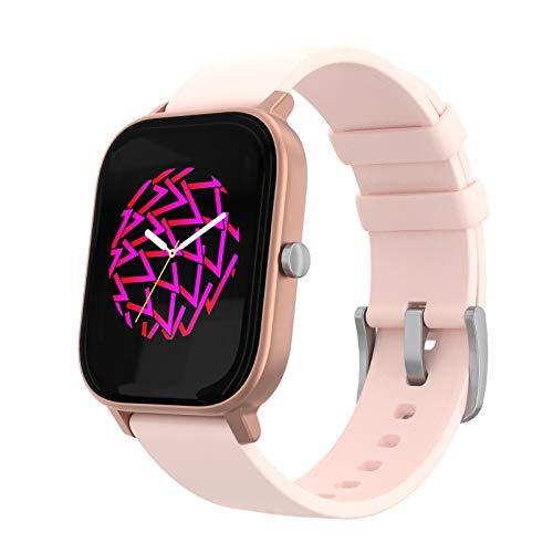 PowerLocus SmartWatch Reloj Deportivo, Monitor de actividad, Impermeable Relojes Inteligentes, con Pedometro, Pulsómetro,App, Notificaciones,1.4 Inch Pantalla Táctil Smartwatch para Mujer,Homb
