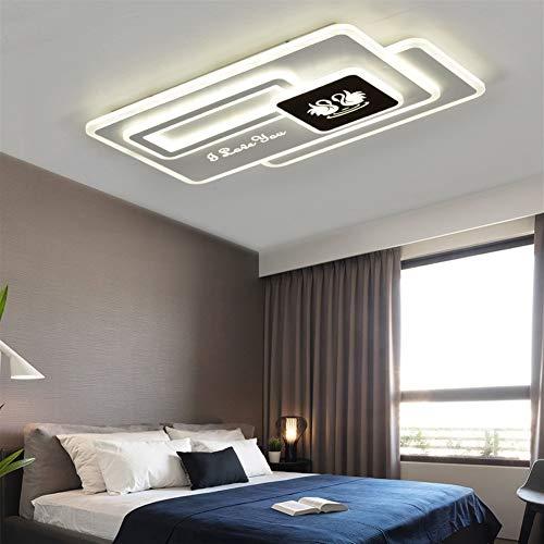 LVYI Living Room Lamp Eenvoudige Rechthoekige Iron Plafond Verlichting Gepersonaliseerde Creatieve LED Kamer Slaapkamer Lamp Geschikt voor Badkamer, Keuken, Gang, Woonkamer, Slaapkamer, Eetkamer, Balkon