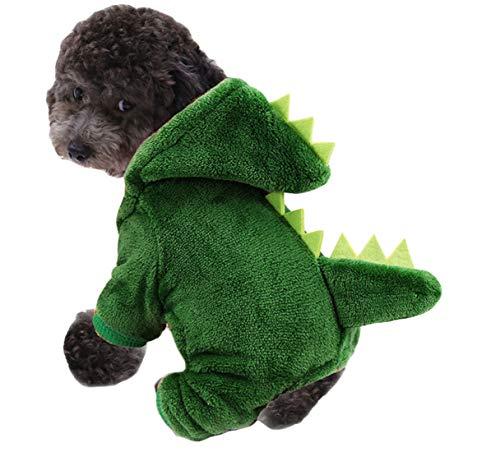 N / A Disfraces De Halloween del Perro Mascota, Dinosaurio Felpa Trajes De Disfraces para Perros Pequeños y Gatos Perro Elegante Decoración De Halloween Vestido De Cosplay