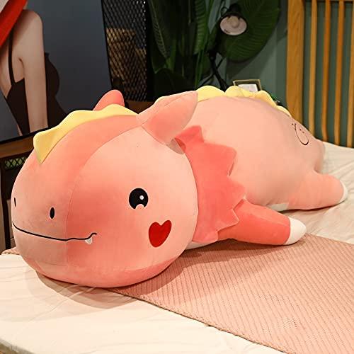 80 cm-120 cm tamaño Grande Kawaii Dinosaurio Almohada de Felpa Dibujos Animados Dino muñecas Cama cojín para Dormir Juguete de Peluche para niños Regalo de cumpleaños 80 cm Rosa