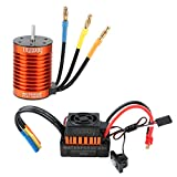 Crazepony-UK F540 Brushless Motor 3000KV RC Car Waterproof Sensorless and 45A ESC Eletronic Speed Controller Combo Shaft 3.175mm for 1:10 RC Car Only 2S Lipo