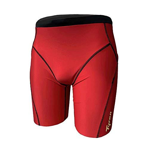 Tyron Jammer Athletic Line (rot - S) | |Badehose für Herren & Jungen | Schwimm Training | Wettkampf | Tight | knielange Schwimmhose