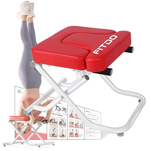 FITDO Yoga Headstand Bench,Stand Yoga Chair for Inversion Safely & Easily,Shape Body & Relieve...