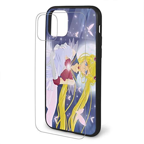 Sailor Moon - Carcasa protectora de cristal templado para iPhone 11 Pro Max-6.5iphone Tpu