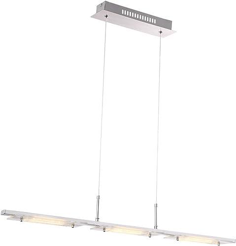 Lumineuse LED éclairage pendent 12 Watt chambres d'hotes chrome verre lampe cristaux Globo 48696-3 H