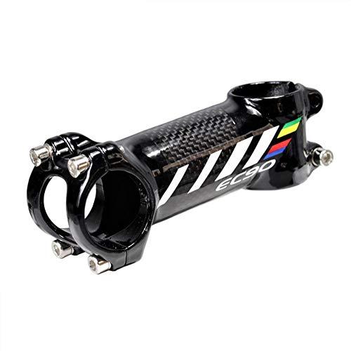 QWERDF MTB 31,8 6 Grad Carbon-Faser-Light Weight Fahrrad-Kurze Lenker Vorbau Geeignet Für Mountainbike Rennrad BMX MTB (Aluminium-Legierung Und Carbon-Faser),60mm