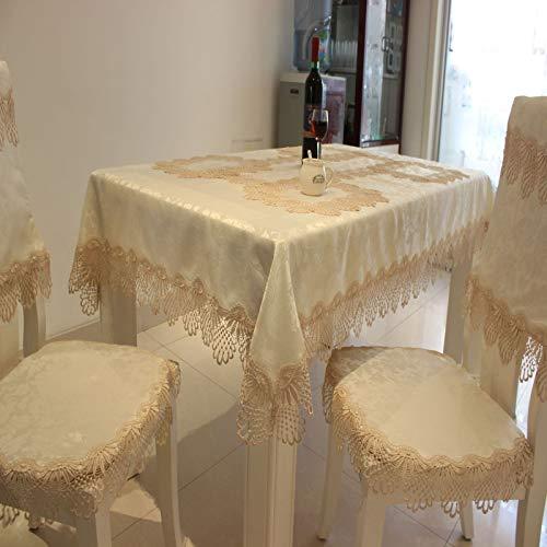 sans_marque Mantel de mesa, cubierta de mantel lavable, utilizado para comedor de cocina, decoración de mesa de cocina 120CM redondo