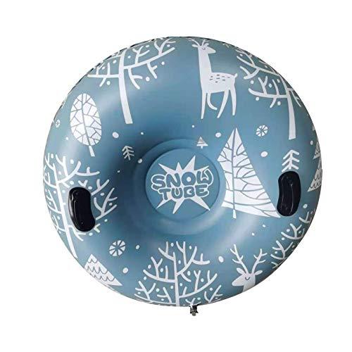 Earlyad Snow Tube Inflable Snow Trineo Trineo Juguetes de Nieve para niños y Adultos Heavy Duty 47 Inch Inflable Snow Tube Engrosamiento 0.6mm Juguetes de Invierno al Aire Libre para niños y Adultos